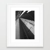 subway Framed Art Prints featuring Subway by Laura Gomez
