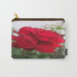 Red Rose Edges Blank P3F0 Carry-All Pouch