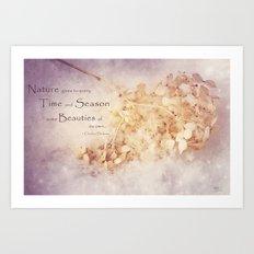 Season's Beauty Art Print