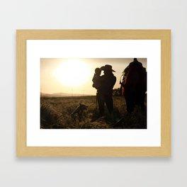 Butte Sunset Framed Art Print
