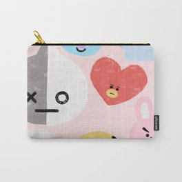 BTS21 Characters in Pastel Carry-All Pouch