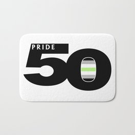 50 Pride Agender Pride Flag Bath Mat