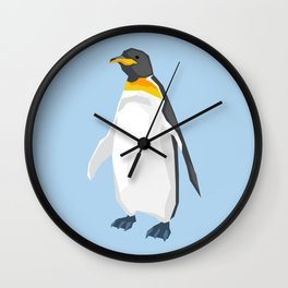 Penguin low poly art Wall Clock