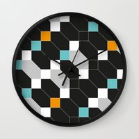 depeche mode Wall Clocks featuring Mode duex by blacknote