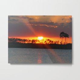 SUNSET AT GLADE LAKE Metal Print