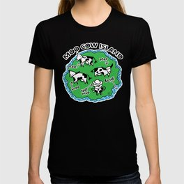Moo Cow Island Map T-shirt