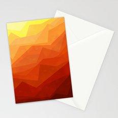 Stratum 3 Orange Stationery Cards