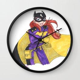 Batgirl of Burnside Wall Clock