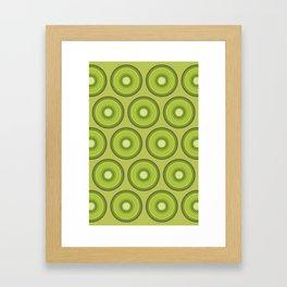 Kiwi Pattern Framed Art Print