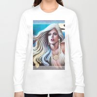 versace Long Sleeve T-shirts featuring VERSACE GODDESS by CARLOSGZZ