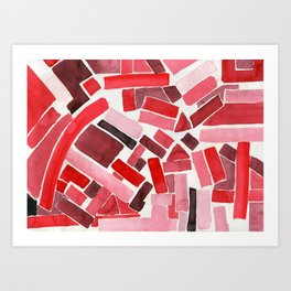 warm color pattern Art Print