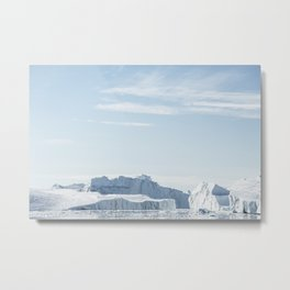 Arctic Icebergs Metal Print