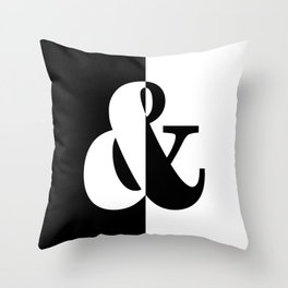 Black & White Throw Pillow