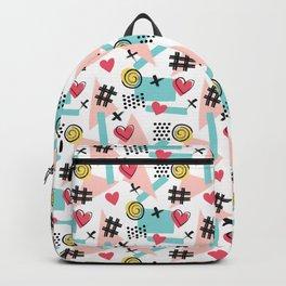 Memphis Doodles Fun Pattern Backpack