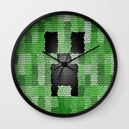 Creeper Art print Wall Clock