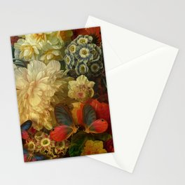 """Baroque Spring of Flowers and Butterflies"" Stationery Cards"