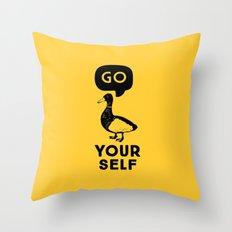 Go Duck Yourself Throw Pillow