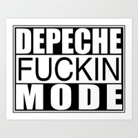 depeche mode Art Prints featuring DM : Depeche Fucking Mode by Luc Lambert