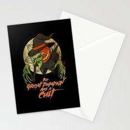 Cult of the Great Pumpkin: Witch Mask Stationery Cards