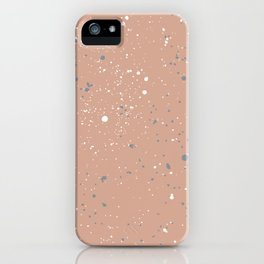 Little spots and speckles galaxy stars little ink dots universe minimal trend pink girls iPhone Case