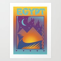 egypt Art Prints featuring Egypt by David Chestnutt