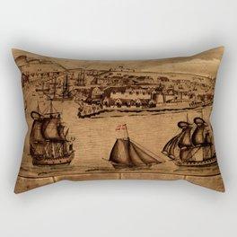 Map Of Curacao 1800 Rectangular Pillow