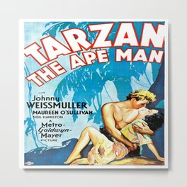 Tarzan The Ape Man Movie Poster Metal Print