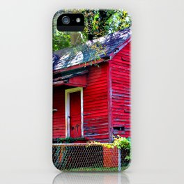 Little Red House iPhone Case