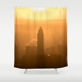 City Sunset Shower Curtain
