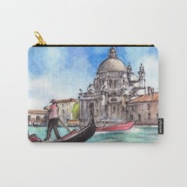 Venice ink & watercolor illustration Carry-All Pouch