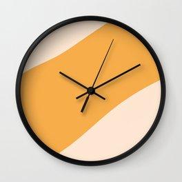 Abstract Sunset in Desert Wall Clock