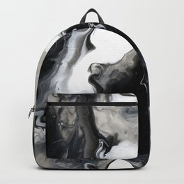 Abstract Acrylic Pour Paint Backpack