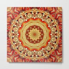 Flower Of Life Mandala (Fire) Metal Print