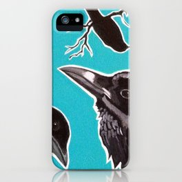 Crows and Raven iPhone Case