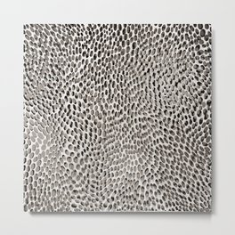 shifting dots in black and white Metal Print