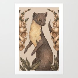 The Marten and Foxglove Art Print
