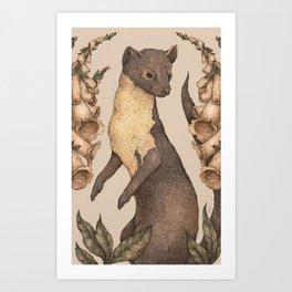 The Marten and Foxglove Art Print