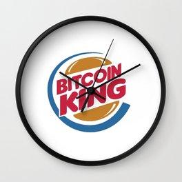 Bitcoin King Wall Clock