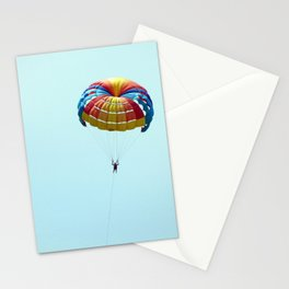 Parachuting over the sea, parasailing Stationery Cards