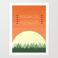moonrise kingdom Art Prints featuring Moonrise Kingdom by Courtney Vlaming