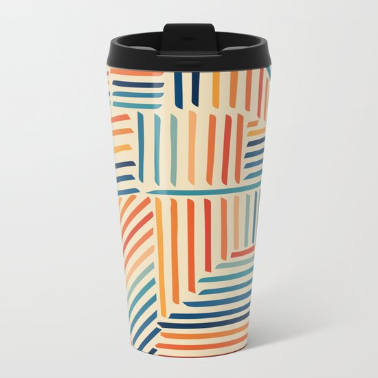 Strypes Metal Travel Mug