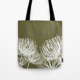 Olive Doodle Floral by Friztin Tote Bag