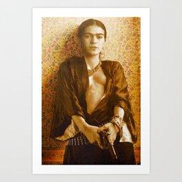Frida Gun Art Print