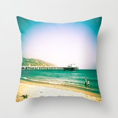 Hangin' Out In Malibu Throw Pillow