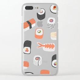 Sushi Roll Maki Nigiri Japanese Food Art Clear iPhone Case