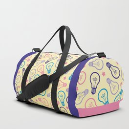 Cute Pastels Light bulb Pattern Duffle Bag