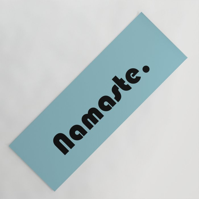 Namaste in blue. Yoga Mat