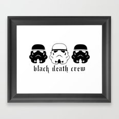 Black Death Crew Buckets Framed Art Print