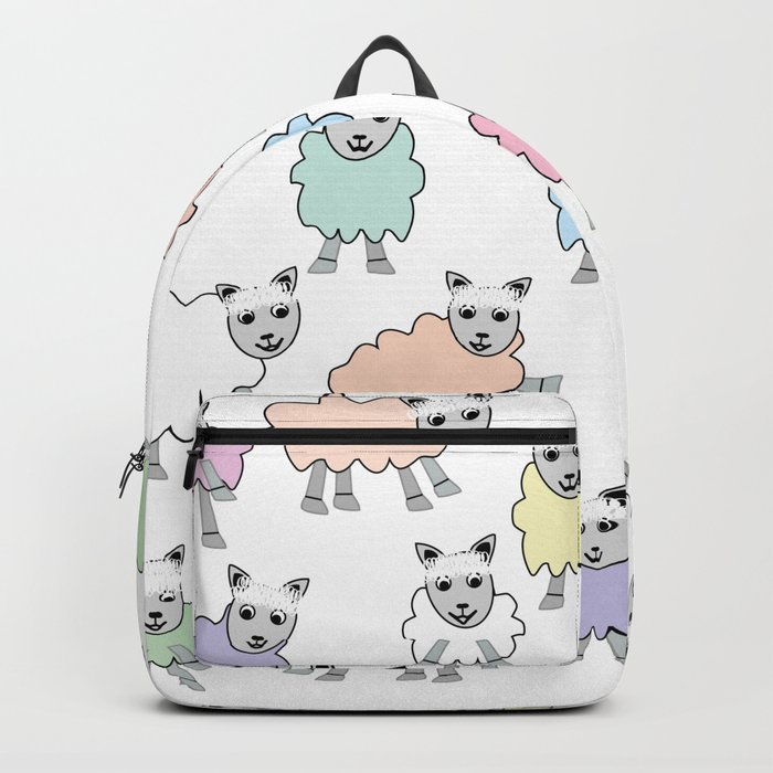 Colorful Counting Sheep Bedtime Pattern Backpack