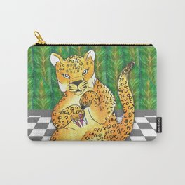 jaguar painting nails 3 Carry-All Pouch